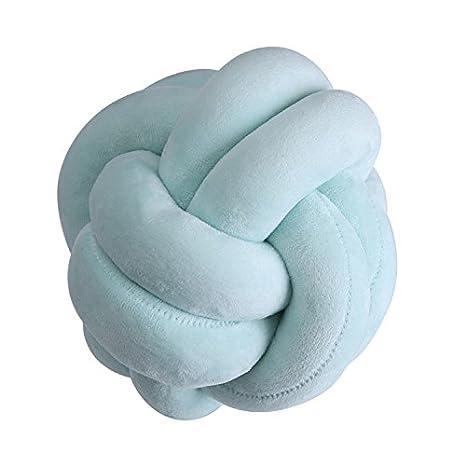 WANGLAI Cojín de nudos creativo hecho a mano con bola ...