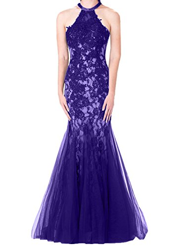 Abschlussballkleider Spitze Meerujungfrau Rock Regency Abendkleider La Braut Hochwertig mia Neckholder Tuell Promkleider Y7ZwqUx