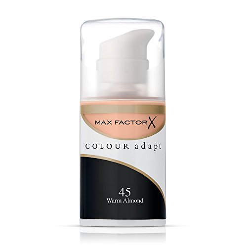 Max Factor Color Adapt Skin Tone Adapting Makeup for Women, # 45 Warm Almond, 1.14 - Tone Colors Warm Skin