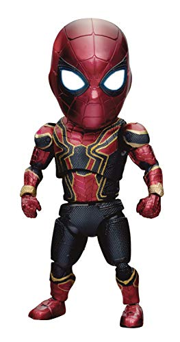 Beast Kingdom Marvel Avengers Infinity War: Iron Spider EAA-060DX Deluxe Egg Attack Action Figure, Multicolor