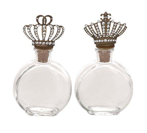 Deco 79 56134 Glass Metal Stopper Bottle