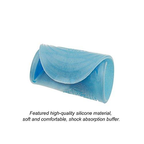 Longitud Completo Invisible Flexible Suave Cómodo Azul Plantillas de Gel de Silicona con Cubierta de Terciopelo para Aliviar el Dolor Caminar Senderismo 27.2cm 31.5cm