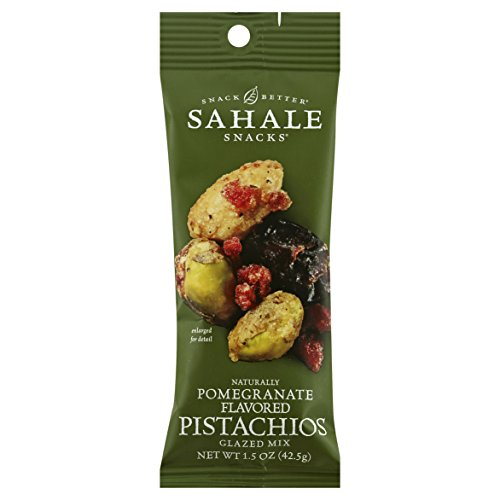 Sahale Snacks Grab & Go Naturally Flavored Glazed Nut Mix, Pomegranate Pistachios, 1.5 Ounce (Pack of 18)