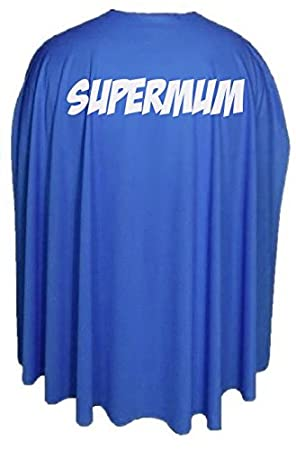 "Adults 35/"" Super Mum Superhero Mothers Day Fancy Dress Cape Gift Idea"