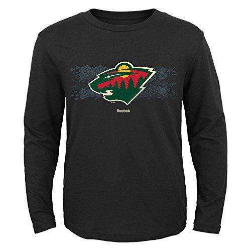 NHL Minnesota Wild Boys Fractal Camo Long Sleeve Tee, X-Large/(18), Black - Minnesota Wild Long Sleeve
