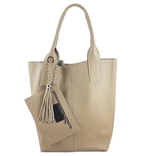 FreyFashion pour Beige2 in Made Italy femme Cabas 6764qwr