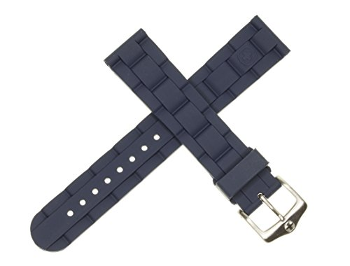 New 19mm Wenger Swiss Army Genuine Rubber Strap Blue Diver Watch Band 19 mm