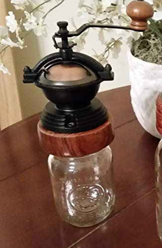 Meacham Woodworking Mason Jar Coffee Grinder – Hand Made – Manual Coffee Grinder