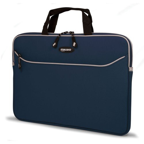 [17 Inch MacBook Pro Navy Blue Neoprene Laptop Sleeve - Special Edition for 15.4