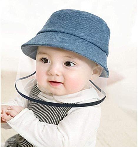 のフェイスシールド 子供の保護フェイスシールド、帽子フェイス画面、0-4歳の子供のためのフィッシャーマンハットアンチフォグハット唾液の保護キャップ屋外防塵防滴ハットアンチUVサンハット 保護カバー (Color : Blue, Size : 50)