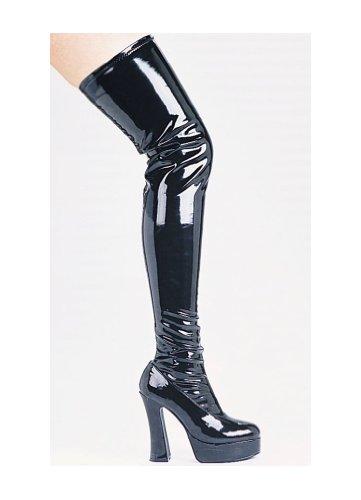 Opwindende Dij Hoge Laarzen Volwassen Schoenen Zwart - Maat 7