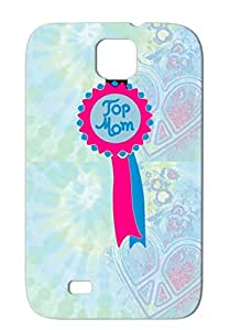 Top Mom Mothers Day Muttertag Mother's Day Holidays Occasions Pink For Sumsang Galaxy S4 Anti-scuff Protective Case