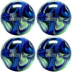 EPCO Candlepin Bowling Ball- Urethane Pro-Line - Purple, Blue & Mint (4 1/2 inch- 2lbs. 6oz.)