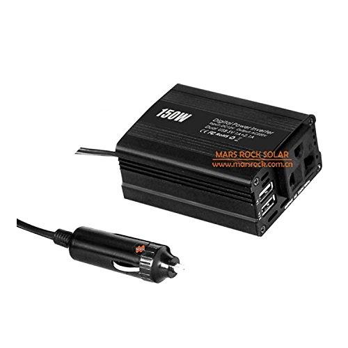 MarsRock 150W Car Inverter, 12V DC to AC 110V or 220V Automobile Power Converter Off Grid Modified Sine Wave Inverter (AC110Volt 50Hz) by MarsRock