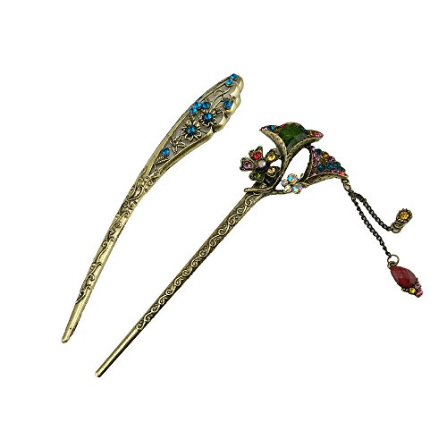yueton Accessory Decorative Rhinestone Chopsticks
