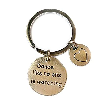 Dance Like No one is Watching Words Colección de llaveros de ...