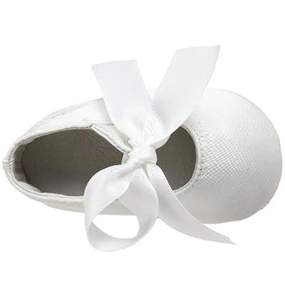 Ralph Lauren Layette Briley Ballet Crib Shoe (Infant/Toddler),Champagne Satin,4 M US Toddler
