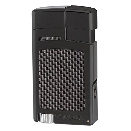 Xikar Forte Carbon Fiber Black Single Jet Lighter