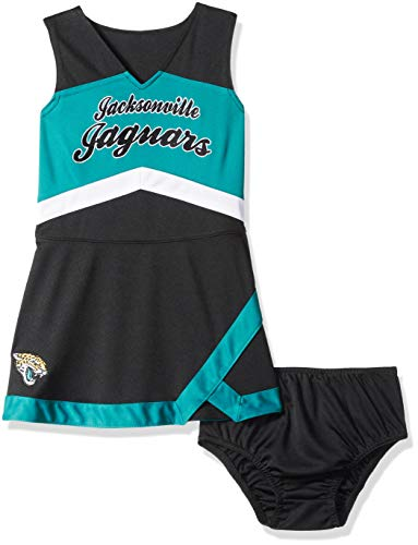 Outerstuff NFL NFL Jacksonville Jaguars Kids & Youth Girls Cheer Captain Jumper Dress Black, Kids Small(4)
