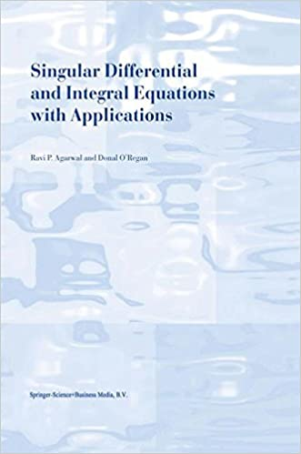 Singular Differential and Integral Equations with Applications