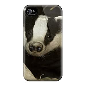 Tpu Shockproof/dirt-proof Badger In His Hole Cover Case For Iphone(4/4s)
