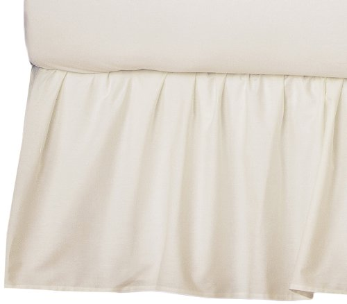 American Baby Company 100 Cotton Percale Ruffled Crib Skirt Ecru