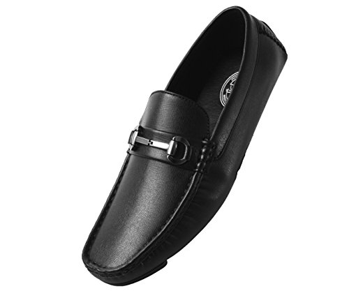 Amali Men's Smooth and Perforated Driving Moccasin Casual Loafer Driving Shoes]()