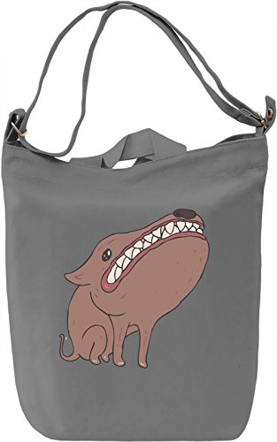 Doggy Borsa Giornaliera Canvas Canvas Day Bag| 100% Premium Cotton Canvas| DTG Printing|