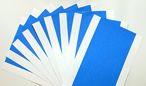 Lot de 10 feuilles de bande bleu pour MakerBot, Replicator 2 imprimante 3D