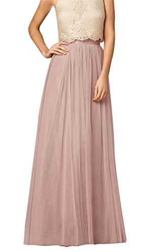 Uswear Women Wedding Long Tulle Skirt Dress Bridal Bridesmaids Floor Length High Waisted Maxi Tutu Party ()