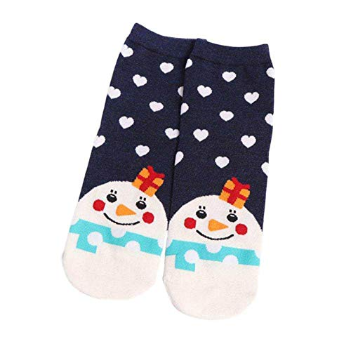 Brave669 [Christmas Decoration]-Women Girl Christmas Santa Claus Snowman Deer Winter Warm Cotton Ankle Socks