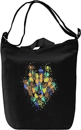 Ethnic Wolf Borsa Giornaliera Canvas Canvas Day Bag| 100% Premium Cotton Canvas| DTG Printing|