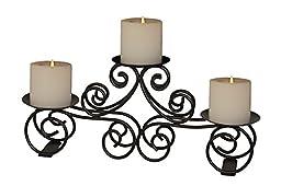 A29 Tuscan 3 pillar Candle Holder, Wedding Centerpiece, Iron