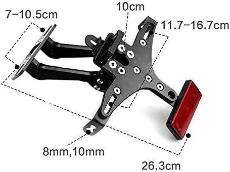 07 KAWASAKI Z800 1000 Noir R3 MT09 Rockyin Rockyin Moto plaque dimmatriculation Cadre Support de fixation for YAMAHA R1