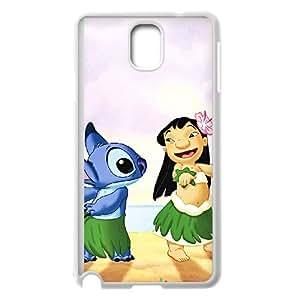 Samsung Galaxy Note 3 Cell Phone Case White Disneys Lilo and Stitch lmz