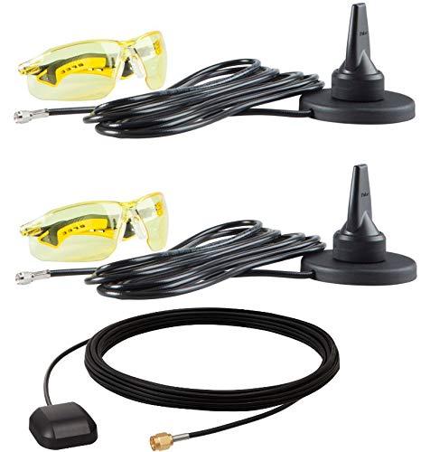 RFMAX | VC80 External WiFi/WLAN + GPS Antenna Range Extender Kit- Mag Mount Antenna Kit for Motorola Zebra VC80 Mobile Computers | VC80-WLAN-GPS-KIT