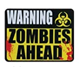 "Warning Zombies Ahead - 5"" x 4"" Car Magnet"