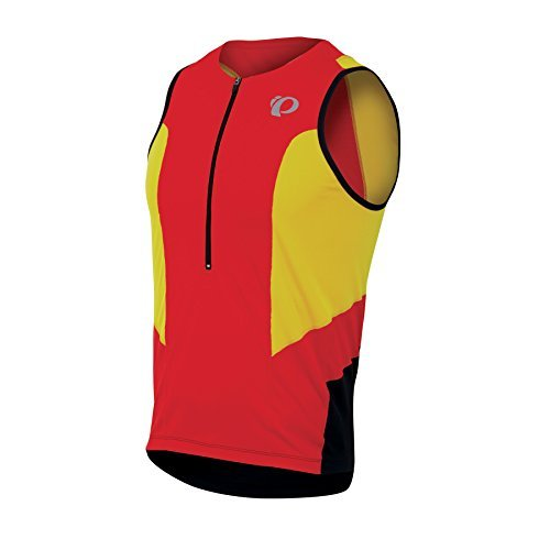 Pearl Izumi Men's Select Tri Relaxed Sleeveless Jersey (Fiery Red/Blazing Orange, Medium) by Pearl iZUMi by Pearl iZUMi