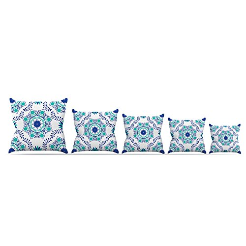 Kess InHouse Anneline Sophia ''Let's Dance Blue'' Teal Aqua Throw Pillow, 26 by 26'' by Kess InHouse