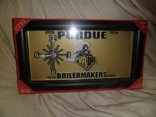 (GTEI Sport Fans License Plate Quarts Wall Clock Purdue Boilermakers)