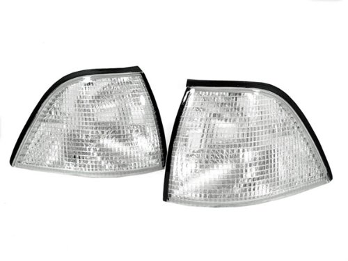 REVi MotorWerks Chrome Housing Front Corner Lights by DEPO Fit for 1992-1999 BMW E36 2D Coupe/Convertible ()