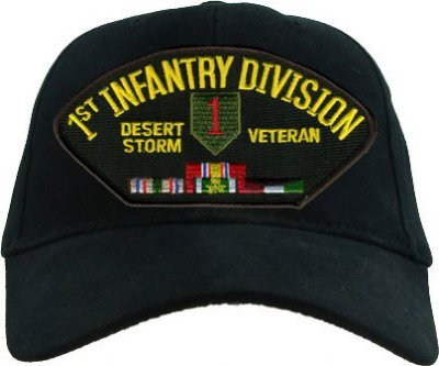 1st Infantry Division Desert Storm Veteran with Ribbons Cap