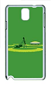 Alien Crop Circles Funny Polycarbonate Hard Case Cover for Samsung Galaxy Note 3 N9000 White
