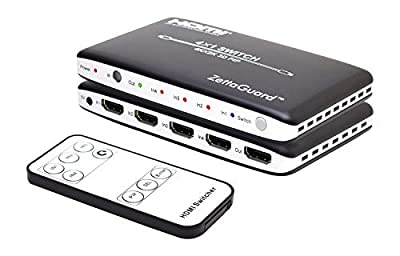 Zettaguard 4K x 2K 4 Port High-Speed 4 x 1 HDMI Switch with PIP & IR Wireless Remote Control (ZW410)