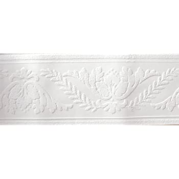 Molding White Paintable Wallpaper Border - Wall Borders