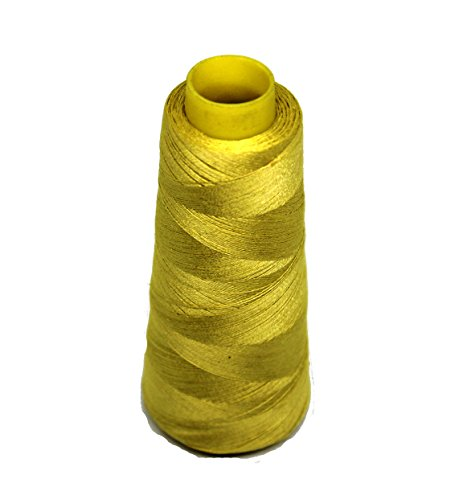 Micro Spun Yarn - Knitsilk Silk Viscose Blend Yarn in Sunset Yellow, (2 ply, 50 GMS) Great for Embroidery, Needle Felting, Knitting, Crafts