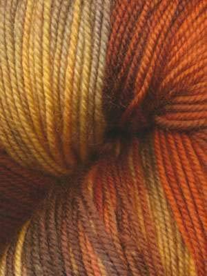 - Ella Rae Lace Merino Hand Dyed Yarn Color 146 Orange, Charcoal, Corn