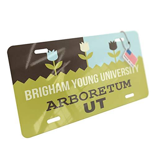 NEONBLOND US Gardens Brigham Young University Arboretum - UT Aluminum License Plate