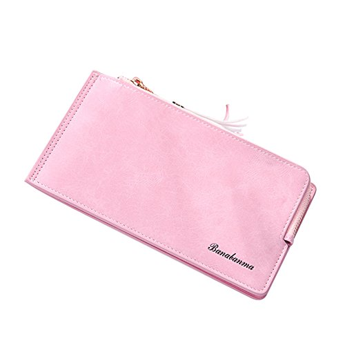 Gilroy Women Faux Leather Wristlet Bag Coin Purse Zipper Wallet With Tassel