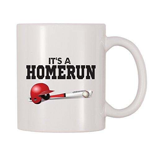 4 All Times It's A Homerun Baseball Mug (11 oz) - Game Day Ceramic Pitcher